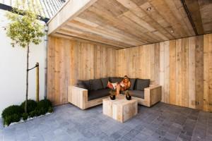 Terrasse couverte avec salon Location Knokke Meerlaan 21