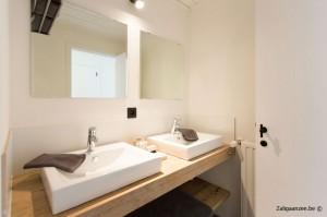 badkamer dubbele lavabo en douche