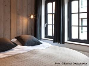 Chambre à coucher no 1 de la maison à louer côte belge Pannenstraat 104 | ZaligAanZee.be