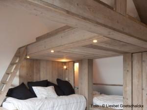 Slaapzolder Vakantiehuis voor 12 - 14 personen Pannenstraat 104 | ZaligAanZee.be