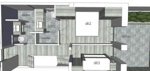Meerlaan 21 1V slpk en badkamers 2 en 3